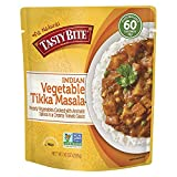 Tasty Bite Vegetable Tikka Masala 10 Ounce (Pack of 8), Fully Cooked Indian Entrée with Vegetables & Aromatic Spices in Creamy Tomato Sauce, Vegetarian, Gluten Free, Ready to Eat