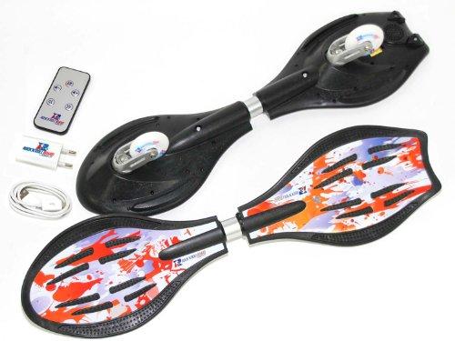 Rock'n'ROLL Waveboard Soul mit Lautsprechern, Speicherkarte und Fernbedienung | 81x23x11cm