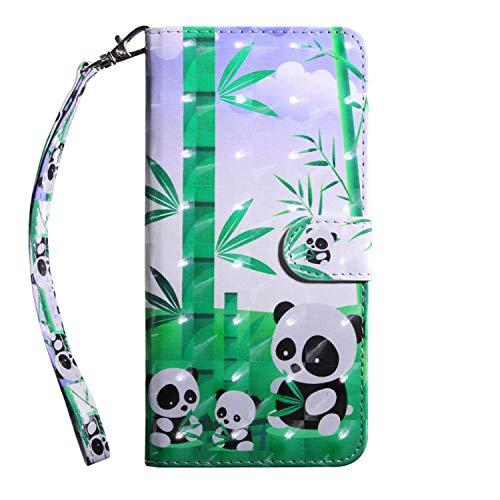 vingarshern Hülle für Elephone S3 Schutzhülle Tasche Etui Klappbares Magnetverschluss Flip Hülle Lederhülle Handytasche Elephone S3 Hülle Leder Brieftasche(Pandas) MEHRWEG