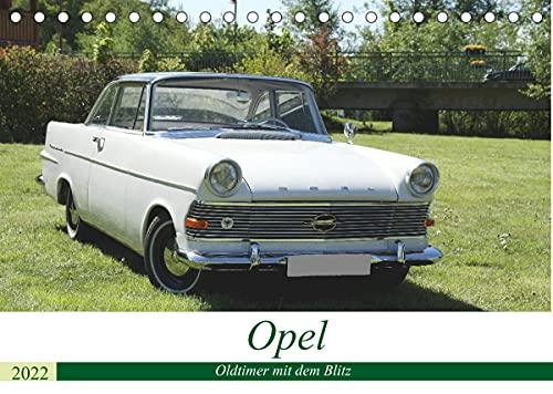 Opel Oldtimer mit dem Blitz (Tischkalender 2022 DIN A5 quer)