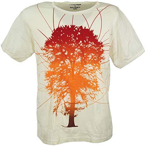GURU-SHOP, Camiseta Pure T-Shirt Tree of Life, Blanca, Algodón, Tamaño:L, Camisetas Seguras