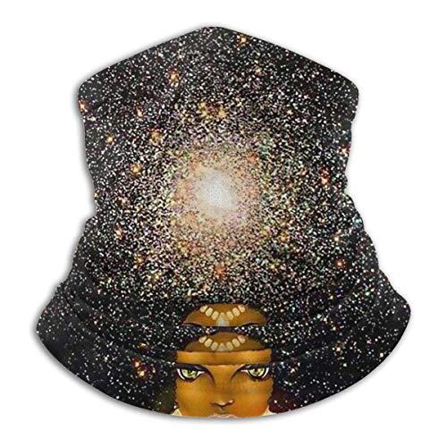 shenguang African American Black Woman Painting Art Unisex Microfiber Neck Warmer Headwear Face Scarf Mask For Winter Cold Weather Mask Bandana Balaclava