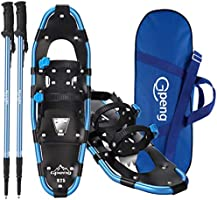 Gpeng Lightweight Snowshoes for Women Men Youth Kids, Aluminum Terrain Snow Shoes with Trekking Poles and Carrying Tote...
