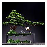Bonsai Plant Artificial blanco Yingbin Pine Big Bonsai Simulación Árbol Jardín al aire libre Decoración del hogar Fake Potted Plant Simulación Árbol Altura 16.92 pulgadas Fake Plant Decoration Plantas