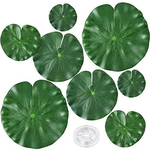 Auihiay 8 piezas 4 tamaño plantas flotantes artificiales li