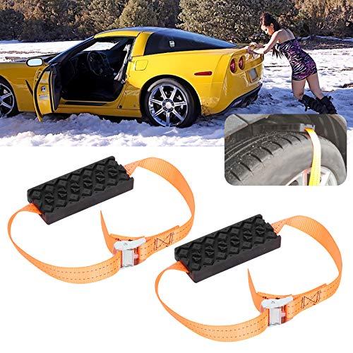 Cadena de neumáticos de emergencia, para conducción segura en carretera, accesorios de automóvil, cadena de rueda de neumáticos, 2 unidades, para universal para todo tipo de neumáticos