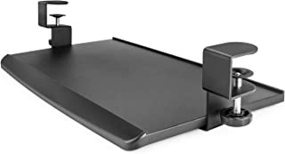 ErgoActive Extra Wide Under Desk Keyboard Tray with Clamp On Easy Installation, Fits Full Size Keyboard and Mouse, Office, Home, School, Gaming Keyboard Tray (Small Tray)