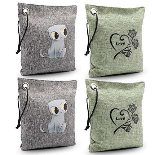 4 PC Natural Bamboo Charcoal Air Purifying Bags Set $10.19 (40% Off with code)