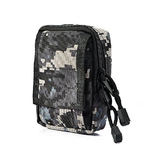 ZYT Plein air poche militaire Camo tactical poche sac sport Pocket pièce portefeuille . black acu
