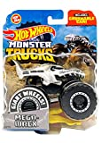 Hot Wheels Die Cast Truck with Crushable Car, Pack Of 1, White