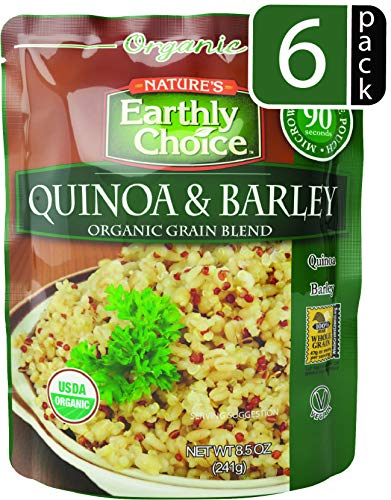 Natures Earthly Choice Organic Grain Blend, Quinoa & Barley, 8.5 Ounce (Pack of 6)