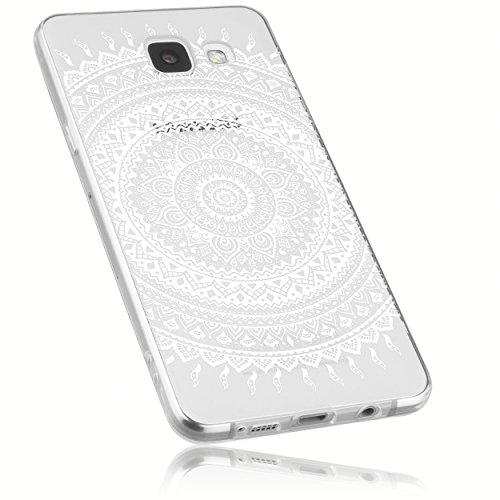 mumbi Hülle kompatibel mit Samsung Galaxy A5 2016 Handy Case Handyhülle mit Motiv Mandala weiss, transparent