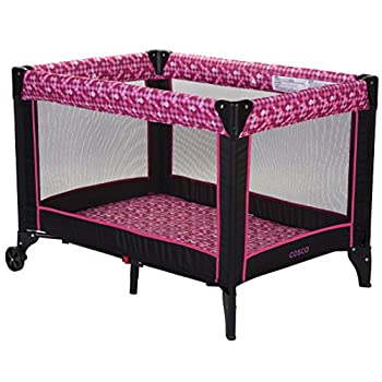 Cosco Funsport Portable Compact Baby Play Yard Disco Ball Berry