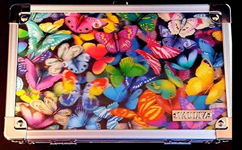 Vaultz Metal Locking Supply Box Holographic Butterflies