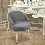 Magshion Vanity Stool Chair Ottoman Makeup Bathroom Accent Stool (Grey)