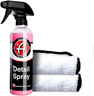 Adam's Detail Spray - Quick Waterless Detailer Spray for Car Detailing | Polisher Clay Bar & Car Wax Boosting Tech | Add Shine Gloss Depth Paint | Car Wash Kit & Dust Remover (Combo)