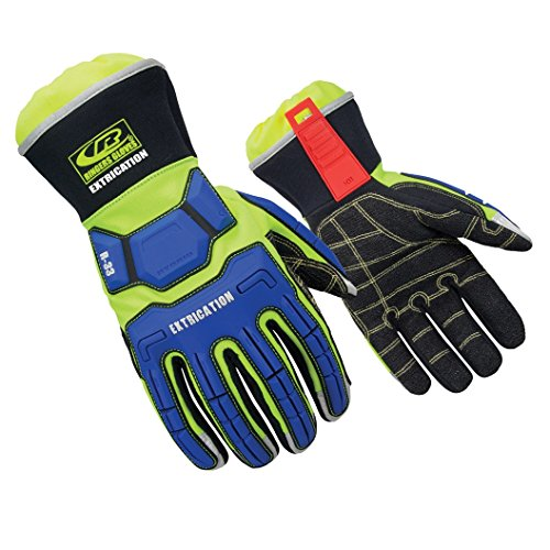 Ringers Gloves R-33 Extrication Gloves, Cut-Resistant Gloves with Durable Grip, XXX-Large, Royal/Lime