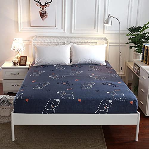 CYYyang Protector de colchón de Rizo algodón y Transpirable Sábana Todo Incluido-5_150x200 + 25cm