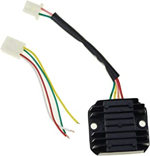 WOOSTAR 4 Wires Rectifier Regulator Voltage for GY6 50cc 150cc Scooter Moped JCL NST Taotao ATV