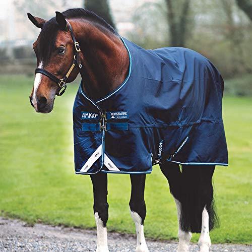 Horseware Amigo Bravo 12 - Winterdecke oder Regendecke 125cm ohne Füllung navy/navy & white