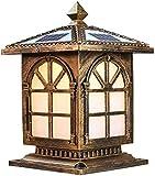 Paisaje bronce antiguo iluminación decorativa, óxido solar impermeable al aire libre, con lámpara de control remoto de la columna montante, jardín LED y luces de columna puntal exterior, césped,Copper