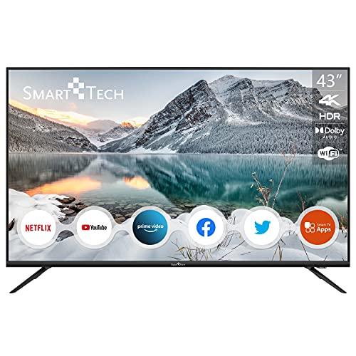 "SMART TECH TV LED 4K UHD Netflix/Youtube 43"" 109cm, T2/S2/C, Dolby Audio, SMT43F30UV2M1B1"