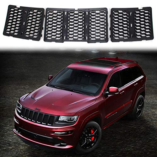 JeCar Mesh Grill Front Grille Trim Honeycomb Grill Inserts Cover Custom 3D Formed for 2014-2016 Jeep Grand Cherokee, Black