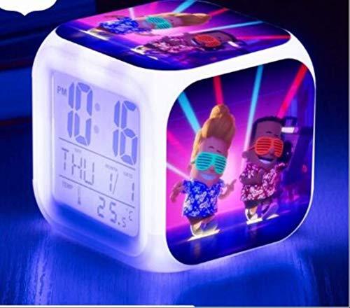 dongwenchao1104 Multifunktionsuhr 7 Farbe Flash Digital Uhren, Elektronische Schreibtisch Uhr Kapitän Unterhose Led Wecker Leuchtend g