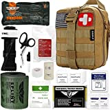 Everlit Emergency Trauma Kit GEN-I, Multi-Purpose SOS Everyday Carry IFAK for Wilderness, Trip, Cars, Hiking, Camping, Father's Day Birthday Gift for Him Men Husband Dad Boyfriend (GEN-1 Tan)