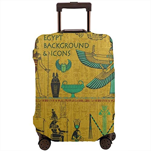 Vintage Ancient Egyptian Travel Luggage Cover DIY Prints Suitcase Protector Suitcase Baggage S Fits 18-21 inch Luggage