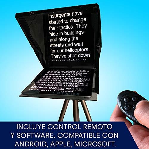 Teleprompter de Leeventi - Compatible con Todos los Dispositivos y trípodes