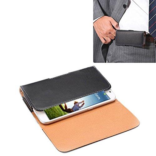 ZAORUN Cubiertas Protectoras de Cellphone Funda de Cuero de Flip Vertical de Textura de Caballo Loco / Bolso de Cintura con tablilla Trasera Compatible for Samsung Galaxy S4 / i9500