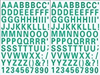 (シャシャン)XIAXIN 防水 PVC製 アルファベット ナンバー ステッカー セット 耐候 耐水 ローマ字 数字 キャラクター 表札 スーツケース ネームプレート ロッカー 屋内外 兼用 TS-539 (2点, グリーン)