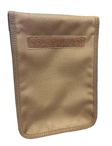 Military Luggage Company Coyote Zippered 6 x 9 Top Spiral Notebook Cover (Includes 6 x 9 Notebook)