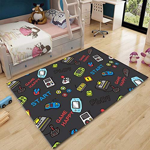 Alfombras de Dormitorio, alfombras de Dibujos Animados, alfombras para bebés Suaves alfombras de Piso a pie de colchoneta de Yoga Alfombra para de Estar dormitorio-03_80 * 120cm