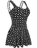 AONTUS Women's Monokini Swimsuits Skirted One Piece Plus Size Swimwear for Retro Bathing Suits