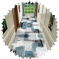 LIXIONG 廊下敷きマット カーペット、滑り止めラバーバックロープロファイルダートキャッチャーカーペット、屋内屋外リビングルーム用の掃除が簡単な玄関ドアマット、カスタムサイズ (Color : Multi-colored, Size : 1x1.5m)