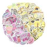 125 pcs Aesthetic VSCO Sticker Cute Vinyl Stickers ( Yellow Pink )