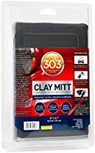 303 Products Clay Mitt - Synthetic Clay Replacement - Creates Ultra Smooth Surface - Faster and Easier Than Clay - Long Lasting, 1 Count (39013), Gray