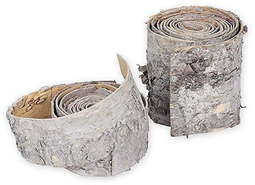 Band aus Birkenrinde, Birke, Deko, Länge 2,5 m, 10 cm breit, geweißt, EUR 6,38 pro Meter