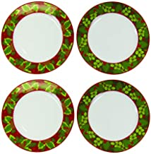 Maison Plus Holiday Collection - Christmas Themed Tableware (Holly Plates)