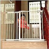 Fácil De Instalar Paseo A Través De La Barrera De Seguridad con Bloqueo En Puerta para Niños Portón Chimenea con Presión Montado De La Cerca por La Escalera (Color : Height 80cm, Size : 222~229cm)