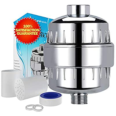 Shower Water Filter with Cyclone Filtration - Improve Your Hair and Skin - Remove Chlorine and Hard Water with any Shower Head