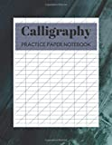 Calligraphy Practice Paper Notebook: Blank Hand Lettering Calligraphy Practice Book for Beginners - Large 8.5 x 11 - 100 Pages (Volumn 38)