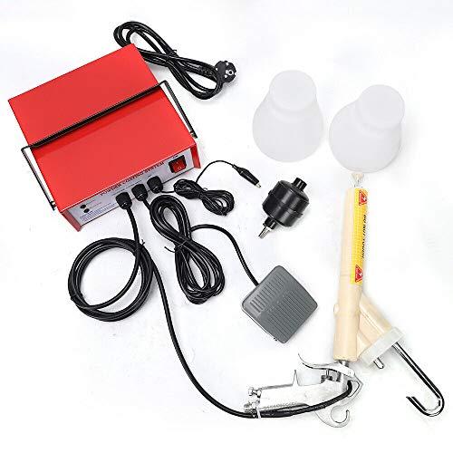 Lackierpistole Pulverbeschichtungsgerät Pulverbeschichtung Pulverpistole Pulverbeschichten 3.3W Elektrostatische Spritzmaschine PC03 Rot DHL