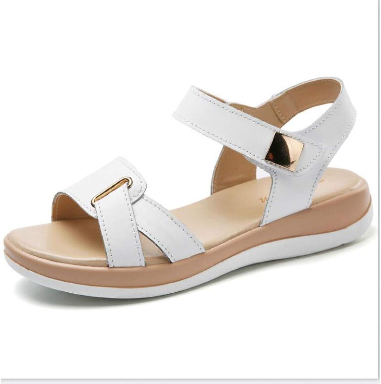 MEIZOKEN Women's Open Toe Platform Sandals Comfy Slip on Slide Slippers Casual Buckle Strap Flat Sandals