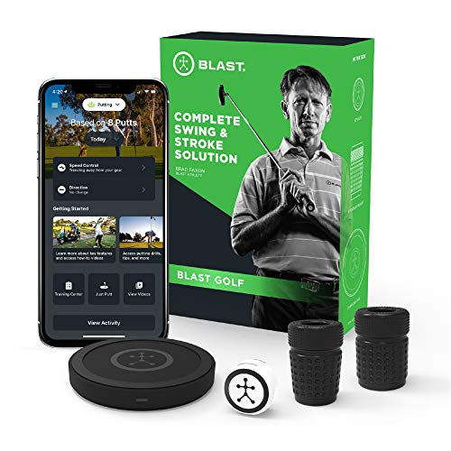 Blast Motion Golf Swing Analyzer I Captures Putting, Full Swing, with NEW Short Game and Bunker Modes I Slo-Mo Video Capture I App Enabled, iOS and Android Compatible (900-00036)