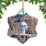 Weekino Oman Encensoir Muscat Décoration de Noël Ornement Suspendu Porcelaine Décoration Noël Ornements pendentifs Sapin Noël Cadeaux Souvenir Voyage