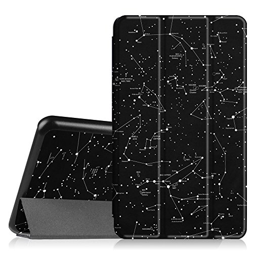 Fintie Hülle für Samsung Galaxy Tab A 7.0 Zoll SM-T280 / SM-T285 Tablet (2016 Version)- Ultra Schlank Superleicht Ständer Slim Shell Hülle Cover Schutzhülle Etui Tasche, Sternbild
