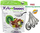 Xlear Xylosweet Bag, 80 Ounce - with set of FREE stainless steel'Practick Solutions' MEASURING SPOONS